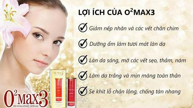 Công dụng của O2 Max3