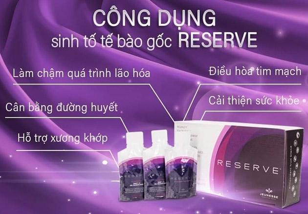 Công dụng của sản phẩm Reserve
