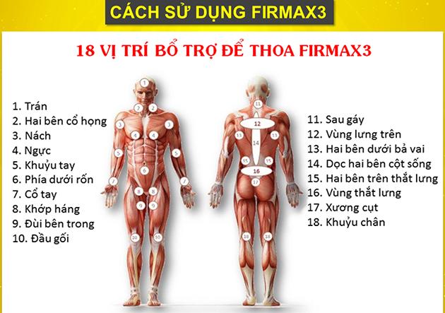 Cách sữ dụng kem Firmax3