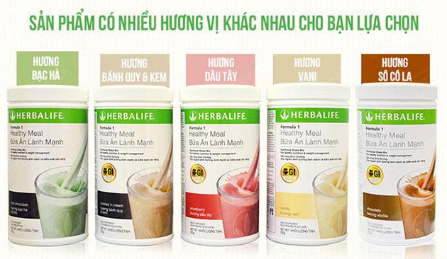 Hương vị của Herbalife f1