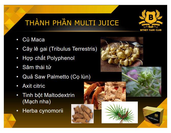 Thành phần Multi Juice