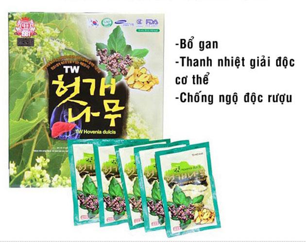 Công dụng Nước bổ gan Hàn Quốc Pocheon Hovenia Dulcis Gold