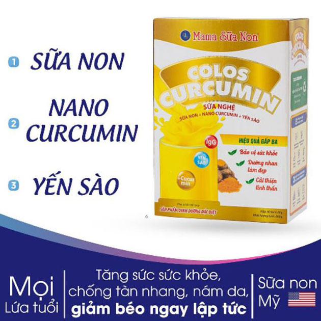 Thành phần Sữa nghệ Colos Curcumin